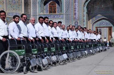المعماریة الإسلامية - منظر من الضريح المقدس للإمام الرضا (ع) - قدس رضوي في المدينة المقدسة مشهد، إيران -  42
