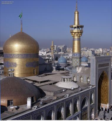 Islamic Architechture/Design in Gold of the Minarets and Dome in Imam Reza`s Holy Shrine