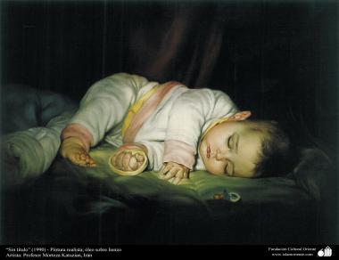 """Sin titulo"" (1990) - pintura de Profesor Morteza Katuzian"