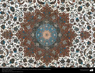 هنر اسلامی - صنایع دستی - هنر نساجی قالی -  قالیچه فارسی - اصفهان ، ایران در سال 1951 - 87