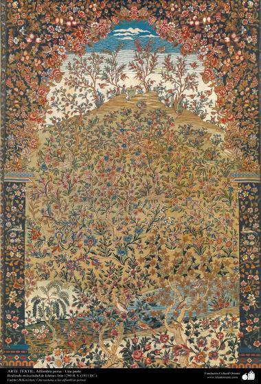 Part of a Persian Carpet made in the city of isfahan – Iran in 1911