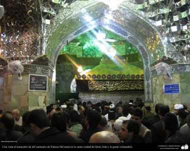 イスラム建築(コム聖地でのハズラト・マースメの聖廟)-127