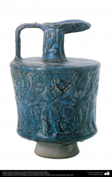 Vasija con motivos danzaros– cerámica islámica- Irán del siglo XII dC.