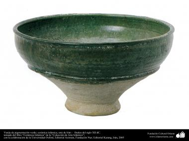 Arte islamica-Terracotta e Ceramica islamica-Scodella in terracotta verde-Est dell'Iran-Ultimi decenni del XII secolo D.C-17