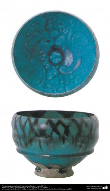 Arte islamica-Gli oggetti in terracotta e la ceramica allo stile islamico-Il vaso blu-Afganistan(Bamisan)-XII secolo d.C-53