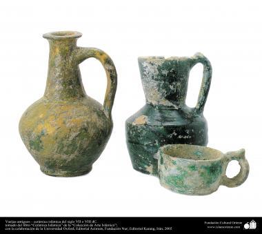 Vasijas antiguos – cerámica islámica del siglo VII o VIII dC.