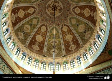 Vista interior de la cúpula de la mezquita de Jamkaran, Qom