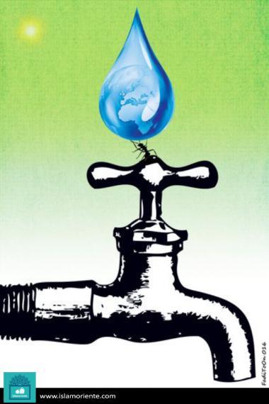 Caricatura - Água e poder