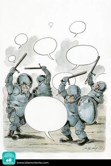 Aleccionando las ideas (Caricatura)