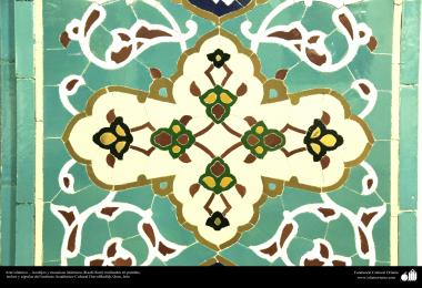 Islamic Architecture, Islamic enamel and mosaic (Kashi Kari) in a Mosque, Ceilings and domes of the Dar-al-Hadith Cultural Academic Institute, Qom, Iran 11