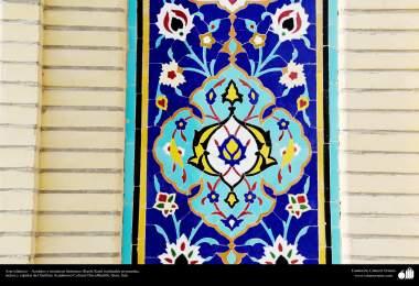 Arte islámico – Azulejos y mosaicos islámicos (Kashi Kari) realizados en paredes, techos y cúpulas del Instituto Académico Cultural Dar-alHadith, Qom, Irán - 80
