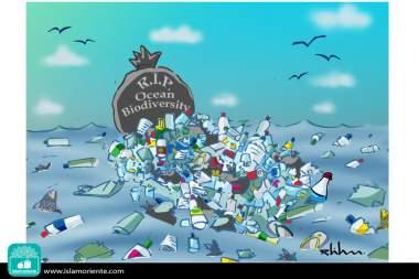 La biodiversità marina ( Caricatura )