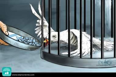 Carceriere inumano (Caricatura)