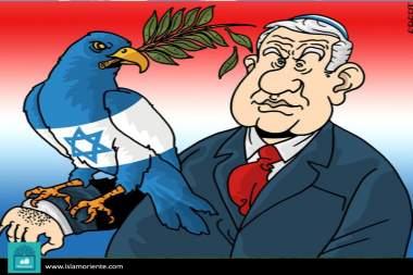 Faucon de l'Israël(Caricature)