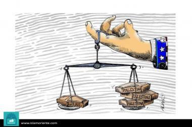 Frais et la balance(Caricature)