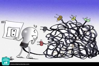 Caricatura - Decisões complicadas