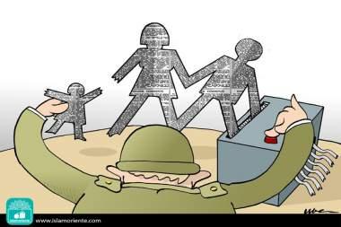 Destruyendo la fuente (Caricatura)