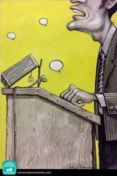 Discurso sinuoso (Caricatura)