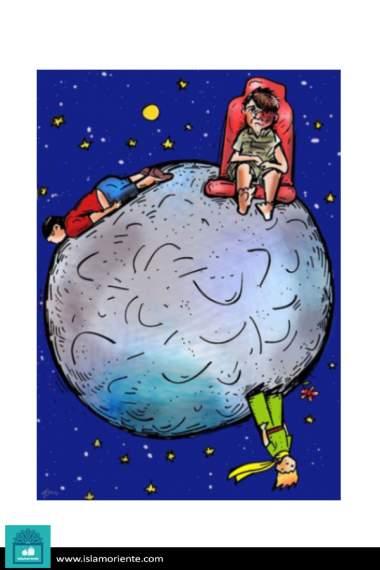 El nuevo mundo del principito (Caricatura)