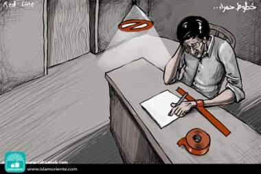 Escritura forzada (Caricatura)