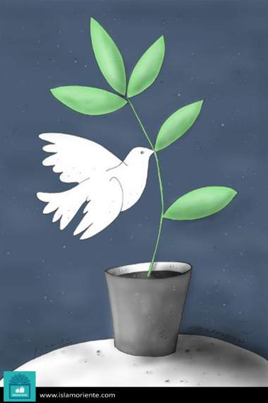 Esperanza, paz y libertad (Caricatura)