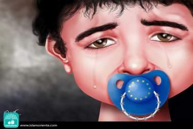 Euro-niñez... (Caricatura)