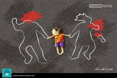 infancia amputada (Caricatura)