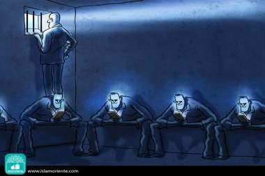 Il carcere del XXI secolo (Caricatura)