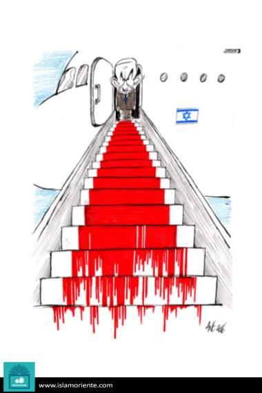 La escala sangrienta (Caricatura)