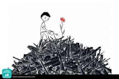 La esperanza es más fuerte que la guerra (Caricatura)