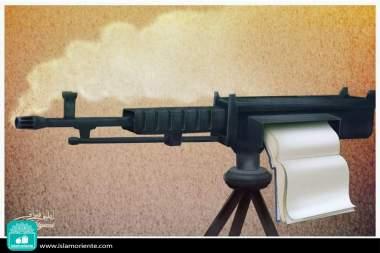 Caricatura - Guerra vs conhecimento