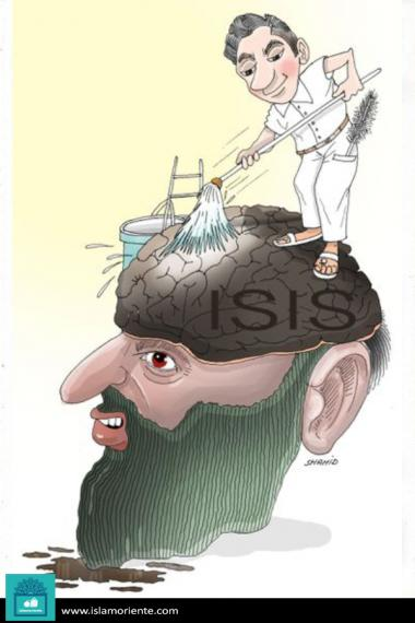Brain washing (Caricature)