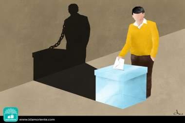 La liberté démocratique... (Caricature)