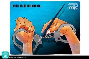 Libertades mediáticas (Caricatura)