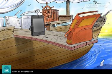Под бритвой технологии (карикатура)