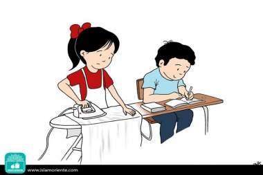 Necesidades, virtudes y voluntades (Caricatura)