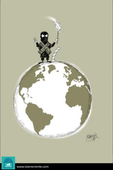 Caricatura - Pela paz