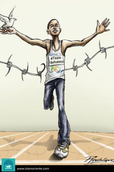 Caricatura - Pela paz!!!