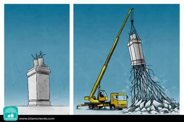 Raices por la paz (Caricatura)