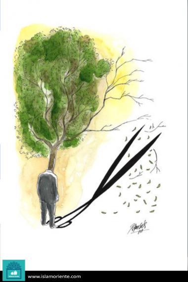 Riflessione (Caricatura)