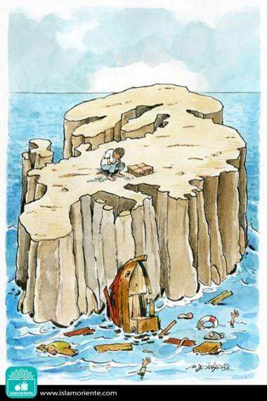 Refugios inertes (Caricatura)