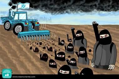 Sembradío sionista (Caricatura)