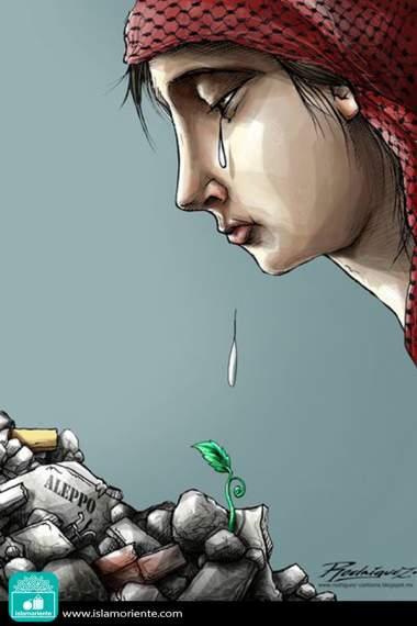 Speranza per ricostruzione di Siria - Caricatura
