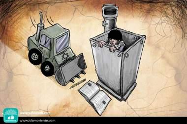Terrorismo blindado (Caricatura)